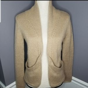 New York & Co. | Tan Open Front Cardigan